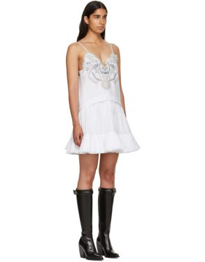photo White Embroidered Detailing Tank Dress by Chloe - Image 2
