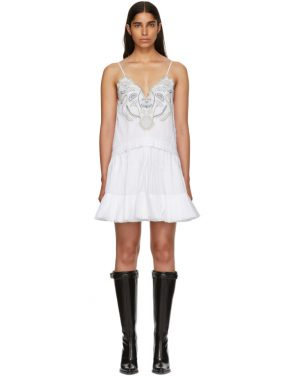 photo White Embroidered Detailing Tank Dress by Chloe - Image 1