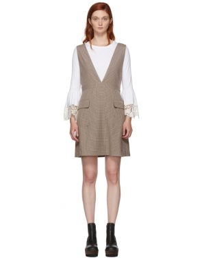 photo Multicolor Houndstooth Pocket Dress by See by Chloe - Image 1