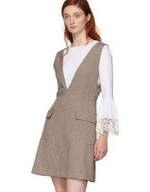 photo Multicolor Houndstooth Pocket Dress by See by Chloe - Image 5