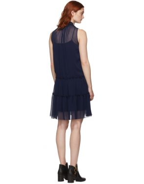 photo Navy Front Neck Tie Dress by See by Chloe - Image 3