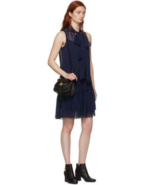 photo Navy Front Neck Tie Dress by See by Chloe - Image 5