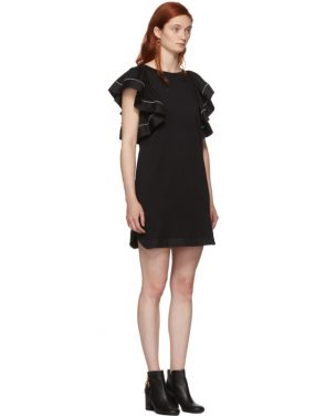 photo Black Ruffled Dress by See by Chloe - Image 2