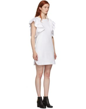 photo White Ruffled Dress by See by Chloe - Image 2