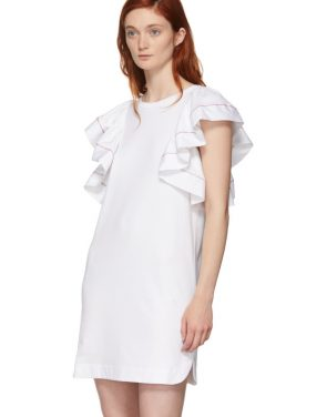 photo White Ruffled Dress by See by Chloe - Image 4