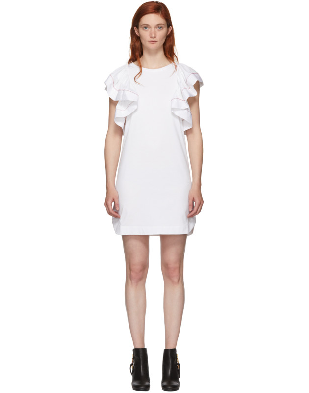 photo White Ruffled Dress by See by Chloe - Image 1