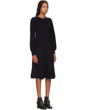 photo Navy Long Sleeve Sweater Dress by See by Chloe - Image 2