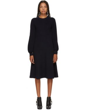 photo Navy Long Sleeve Sweater Dress by See by Chloe - Image 1