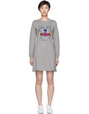 photo Grey Tiger Flare Dress by Kenzo - Image 1