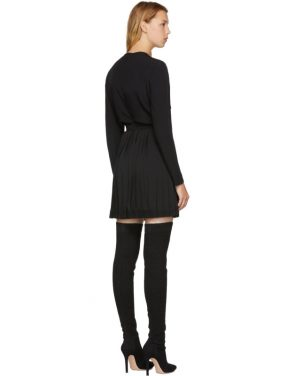photo Black Slit Pleated Dress by Versus - Image 3