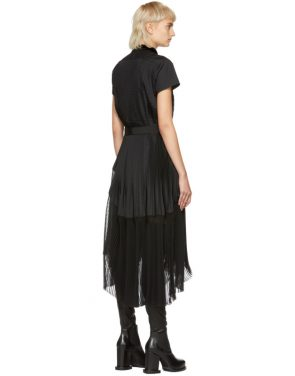 photo Black Pleated Dress by Sacai - Image 3