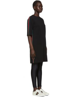 photo Black Webbing T-Shirt Dress by Gucci - Image 2