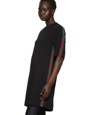 photo Black Webbing T-Shirt Dress by Gucci - Image 4