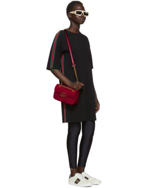 photo Black Webbing T-Shirt Dress by Gucci - Image 5