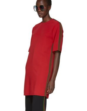photo Red Webbing Tunic Dress by Gucci - Image 4