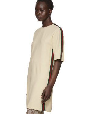 photo Off-White Webbing T-Shirt Dress by Gucci - Image 4