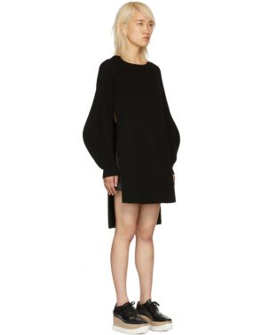 photo Black Voluminous Sleeve Knit Dress by Stella McCartney - Image 2