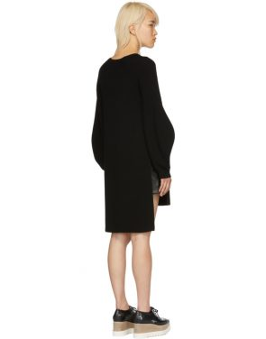photo Black Voluminous Sleeve Knit Dress by Stella McCartney - Image 3