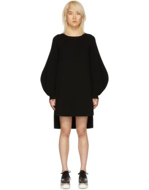 photo Black Voluminous Sleeve Knit Dress by Stella McCartney - Image 1