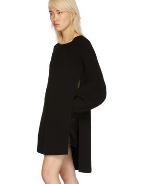 photo Black Voluminous Sleeve Knit Dress by Stella McCartney - Image 4
