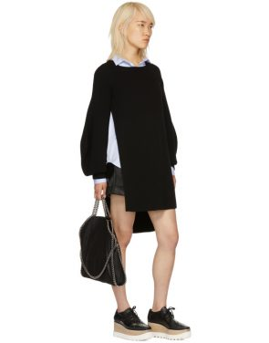 photo Black Voluminous Sleeve Knit Dress by Stella McCartney - Image 5