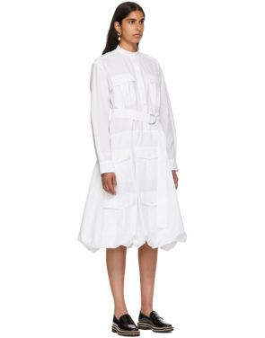 photo White Multi-Pocket Shirt Dress by JW Anderson - Image 2