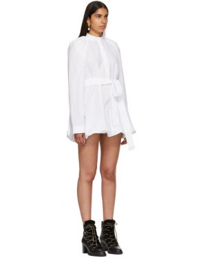 photo White Floating Sleeve Short Dress by JW Anderson - Image 2