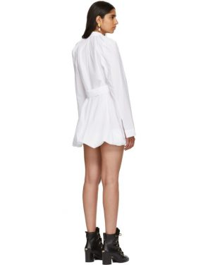 photo White Floating Sleeve Short Dress by JW Anderson - Image 3