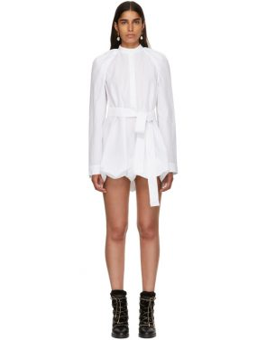 photo White Floating Sleeve Short Dress by JW Anderson - Image 1