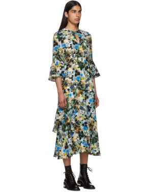 photo Multicolor Silk Floral Florence Dress by Erdem - Image 2