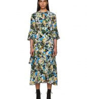 photo Multicolor Silk Floral Florence Dress by Erdem - Image 1