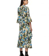 photo Multicolor Silk Floral Florence Dress by Erdem - Image 3