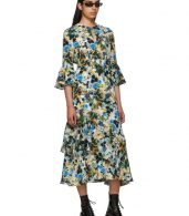 photo Multicolor Silk Floral Florence Dress by Erdem - Image 5