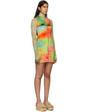 photo Multicolor Velvet Mini Dress by Eckhaus Latta - Image 2