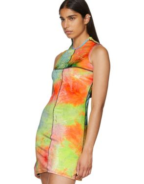 photo Multicolor Velvet Mini Dress by Eckhaus Latta - Image 4