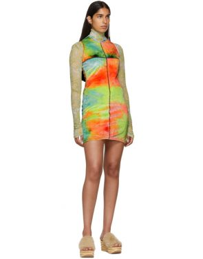 photo Multicolor Velvet Mini Dress by Eckhaus Latta - Image 5