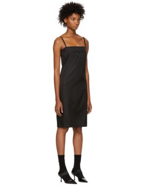 photo Black Strappy Short Dress by Prada - Image 2