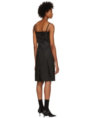 photo Black Strappy Short Dress by Prada - Image 3