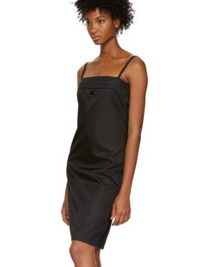 photo Black Strappy Short Dress by Prada - Image 4