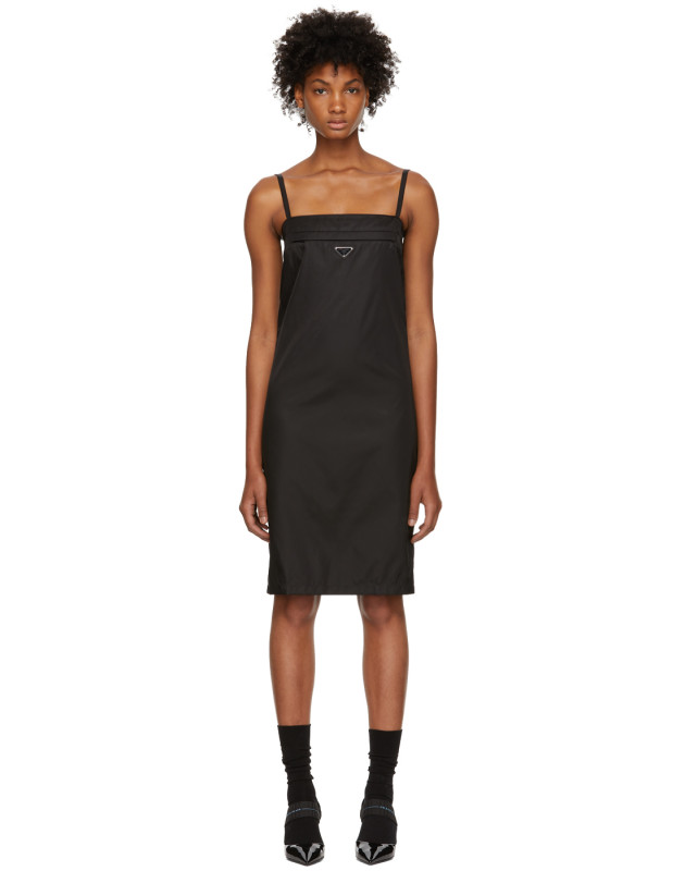 photo Black Strappy Short Dress by Prada - Image 1