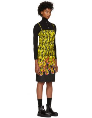 photo Multicolor Banana Strappy Short Dress by Prada - Image 2