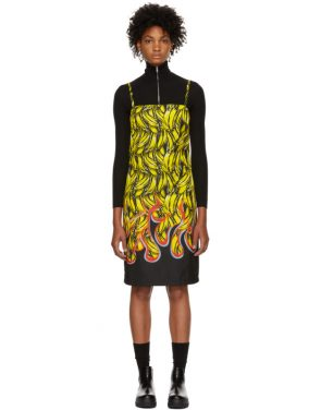 photo Multicolor Banana Strappy Short Dress by Prada - Image 1