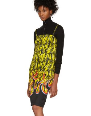photo Multicolor Banana Strappy Short Dress by Prada - Image 4