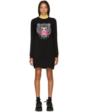 photo Black Classic Tiger Sweatshirt Dress by Kenzo - Image 1