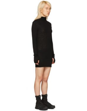 photo Black Rib Turtleneck Dress by Boris Bidjan Saberi - Image 2