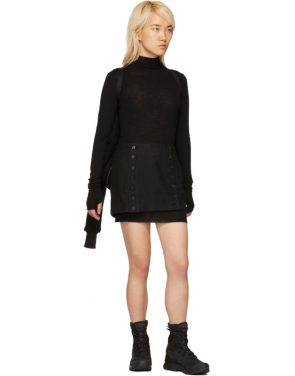 photo Black Rib Turtleneck Dress by Boris Bidjan Saberi - Image 5
