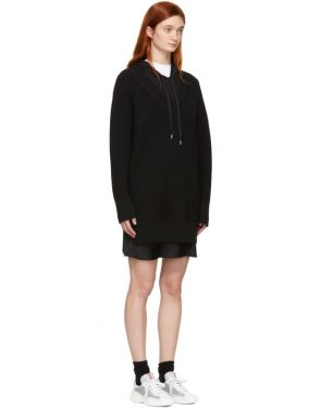 photo Black Bi-Layer Hooded Dress by alexanderwang.t - Image 2