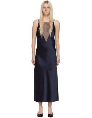 photo Navy Gia Slip Dress by Marina Moscone - Image 1