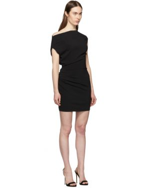photo Black Ruched Sleeveless Dress by Versace - Image 2