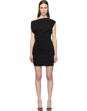 photo Black Ruched Sleeveless Dress by Versace - Image 1